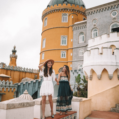 Lace Rompers & Printed Maxis at Pena Palace