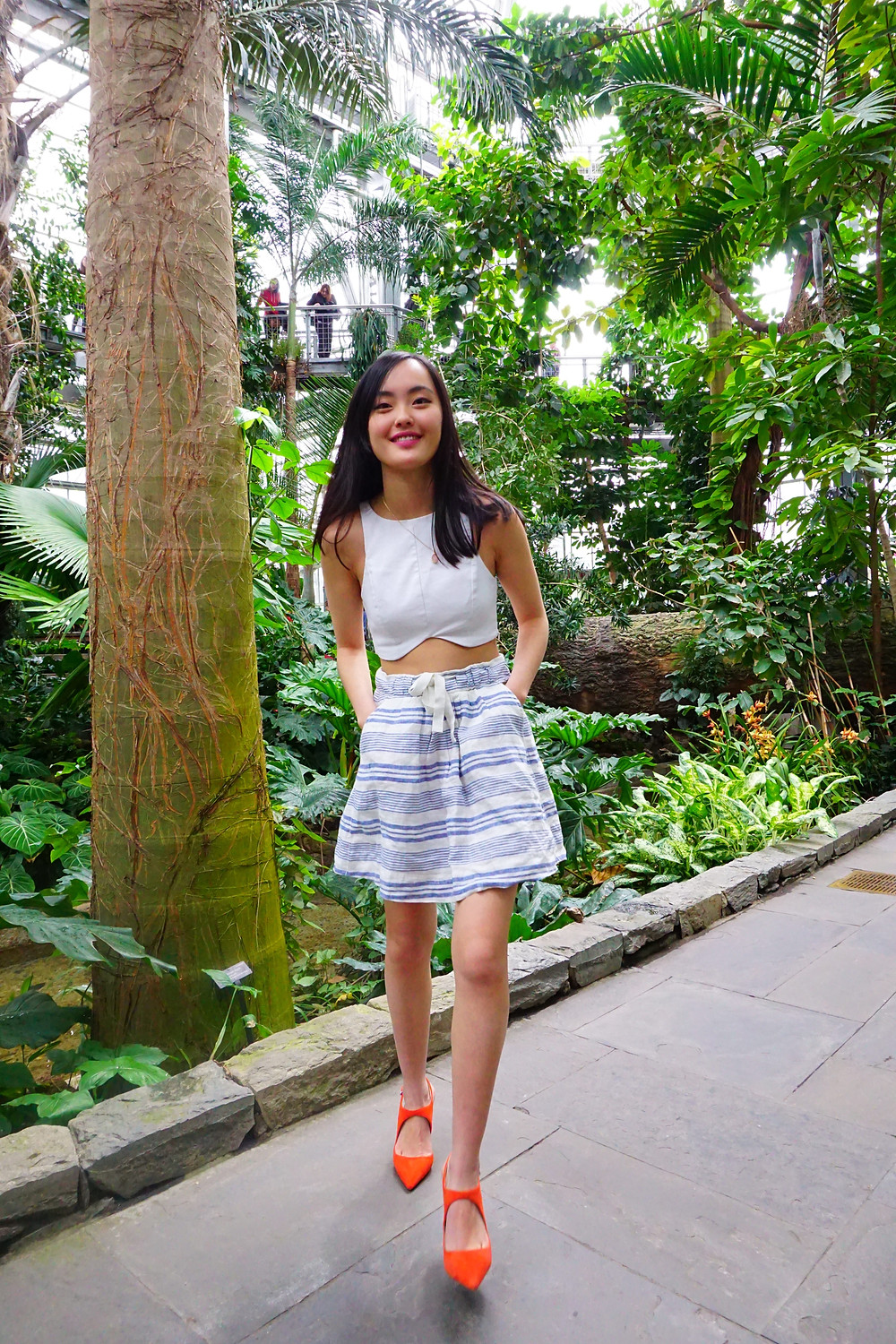 Full length outfit at the United States Botanical Gardens