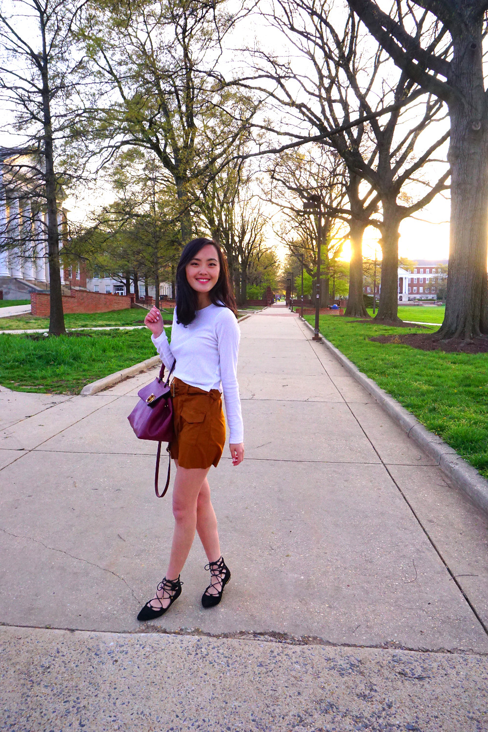 Mel's outfit of the day at University of Maryland