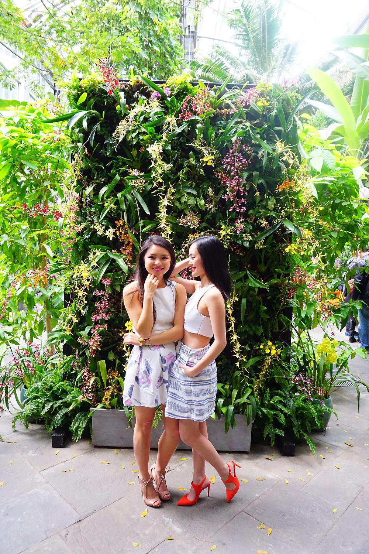 Two girls at United States Botanical Gardens