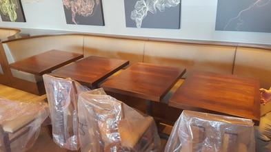 Chef Morimoto's restaurant tables we did!