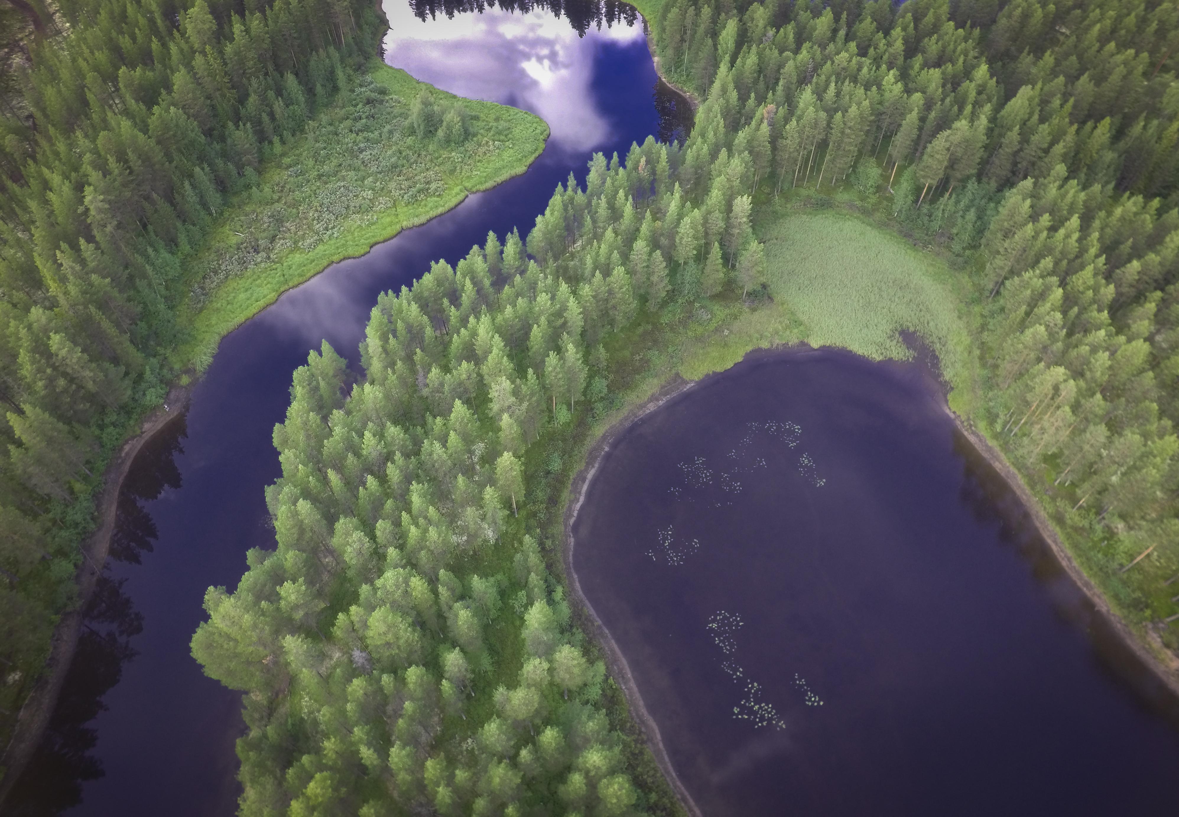 Kringelfjorden ved Särna i Sverige