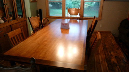 Custom built dining table for a large family