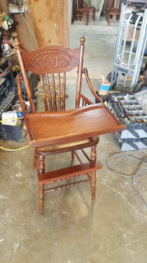 All finished- beloved high chair