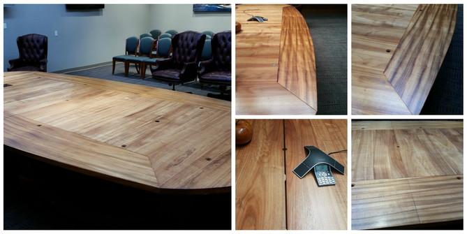 Koa conference tables for local law firm