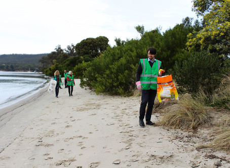 Beach Clean Up & launch at Snug