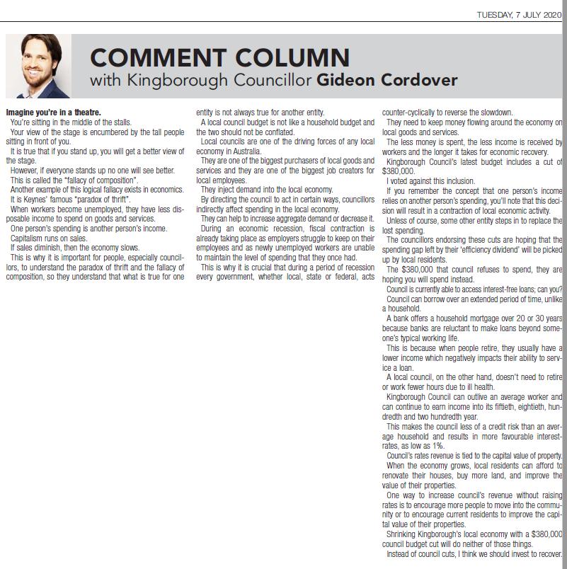 Economics Comment Column Chronicle 7 Jul
