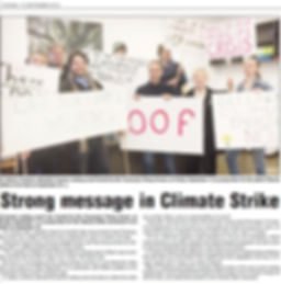 Climate Strike Kingborough Chronicle 17s