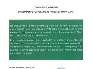 INFORMAÇÃO À POPULAÇÃO - MEDIDAS TEMPORÁRIAS DE CONTENÇÃO DEVIDO AO CORONAVÍRUS (COVID-19)