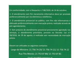 SERVIÇOS DE ATENDIMENTO AO PÚBLICO - CORONAVÍRUS (COVID 19) - INFORMAÇÃO À POPULAÇÃO