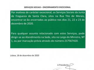 INFORMAÇÃO À POPULAÇÃO - SERVIÇOS SOCIAIS