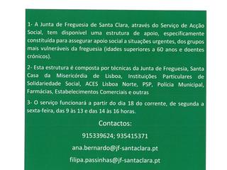 INFORMAÇÃO À POPULAÇÃO - SERVIÇO DE ACÇÃO SOCIAL - REDE DE APOIO