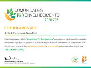 """SELO """"COMUNIDADES PRÓ-ENVELHECIMENTO 2020/2021"""""""