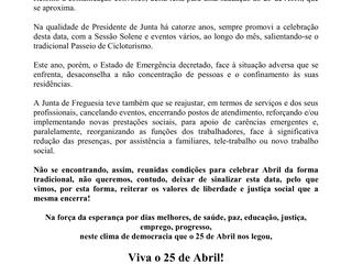 CIDADÃOS DE SANTA CLARA - SAUDAÇÃO AO 25 DE ABRIL