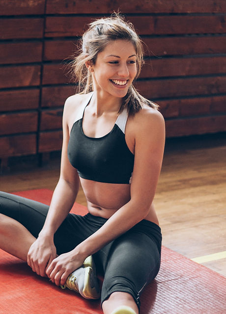 Warm up exercises for Pilates class