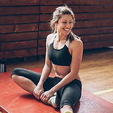 Woman on a Gym Mat