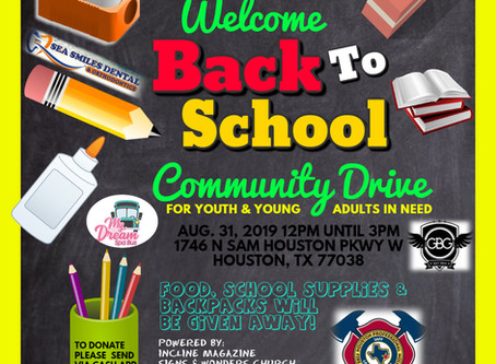 Enjoy Fellowship & Fun at Our Welcome Back To School Community Drive