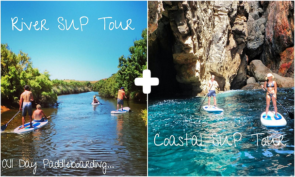 Combined SUP tours, River and Coastal Standup Paddleboarding Algarve