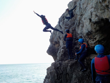 Launching off the cliff near Lagos