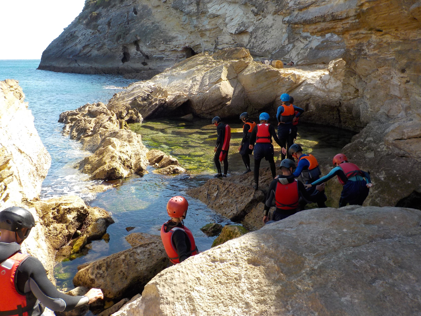 Amazing natural rock pool Coasteering Algarve