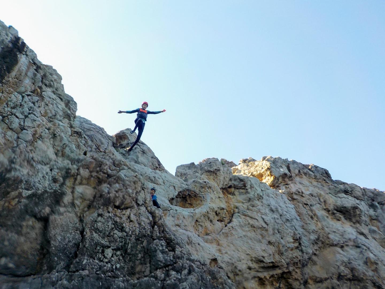 That's a high cliff jump near Lagos