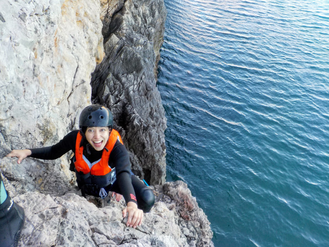 Climbing is a big part of Coasteering