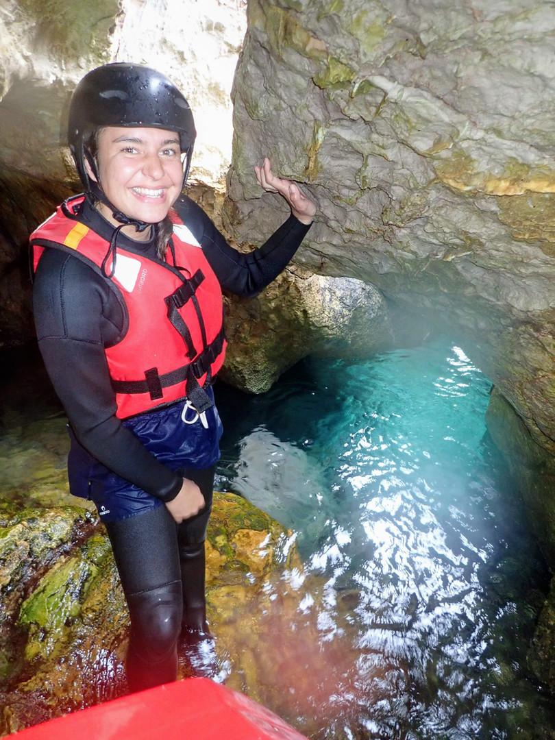Amazing grotto Coasteering Algarve