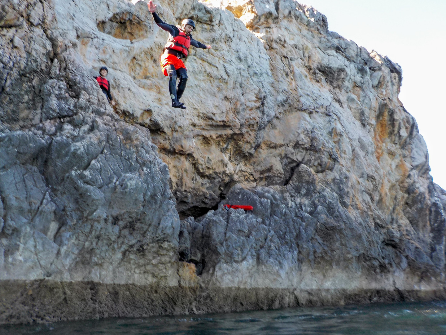 Great spot for lots of cliff jumps near Sagres