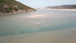 SUP tour rio da Praia da Amoreira
