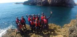 SUP tour Grutas + Coasteering no Algarve
