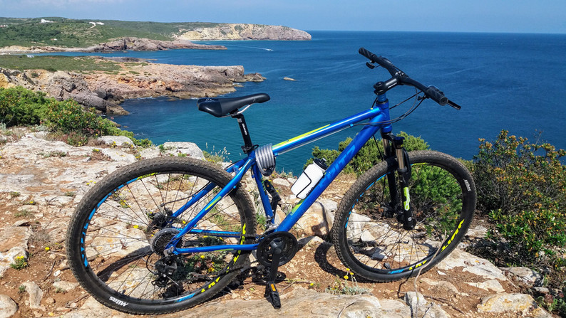Bike on the cliff