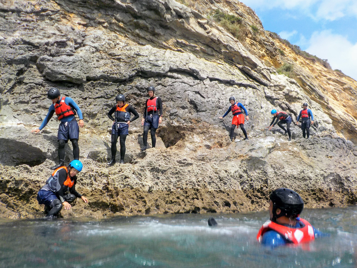 Beautiful cliffs for exploring Coasteering