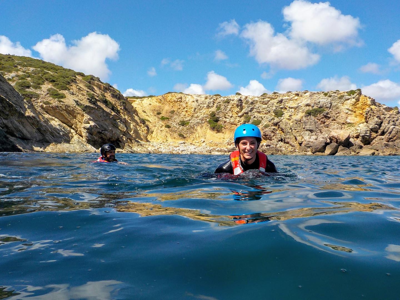 Swimming in paradise Algarve