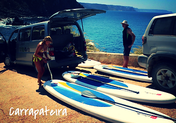 SUP between Carrapateira and Amado beach in Algarve