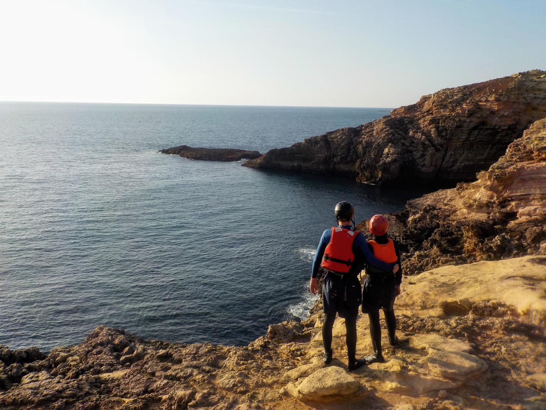 Contemplating the beautiful west coast of Algarve