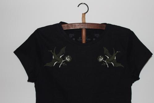 "Tee-Shirt Black ""Baby Look"" féminin"