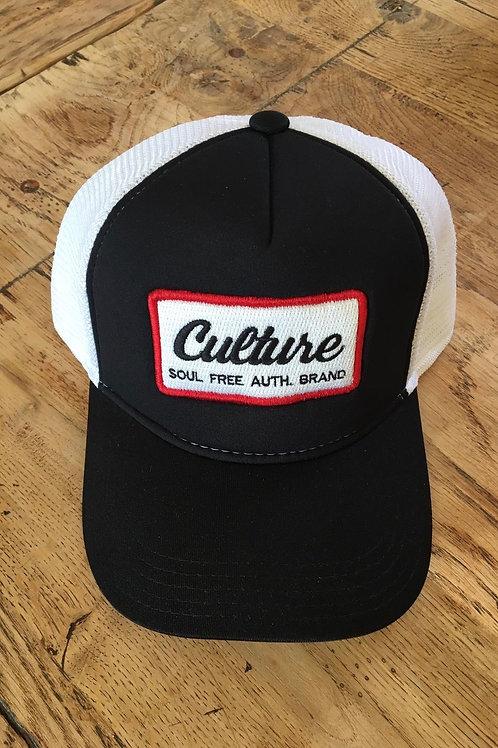 Trucker Cap- Culture Black & White