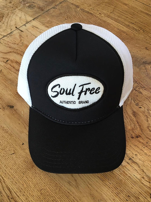 Trucker Cap - Soul Free Black & White