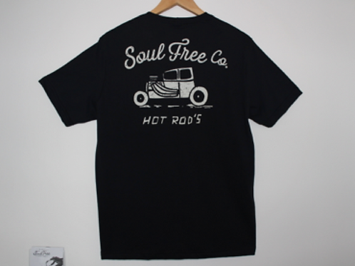 T-shirt Black Hot Rod's