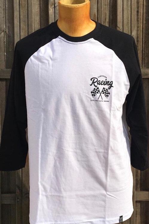 Raglan - White & Black