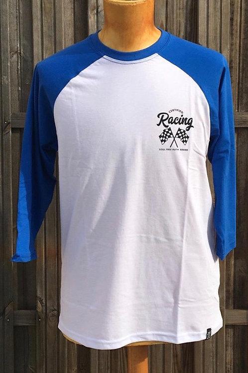 Raglan Racing manche 3/4 - bleu