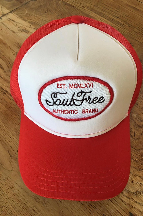 Trucker Cap - Soul Free White & Red