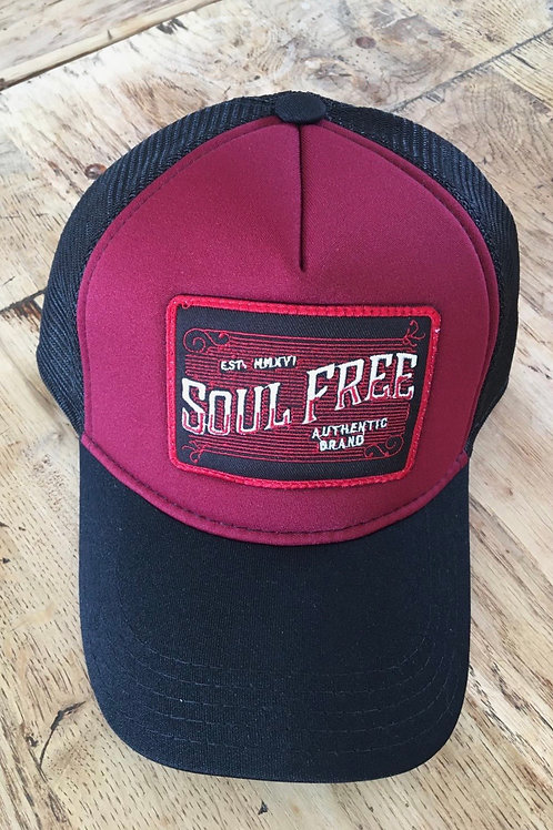 Trucker Cap - Soul Free Wine & Black