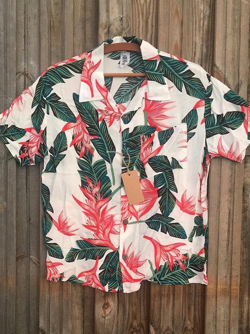 Chemise hawaïenne Palmier