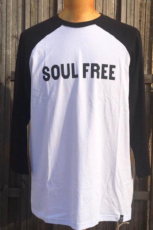 Raglan Soul Free manche 3/4 -White & Black