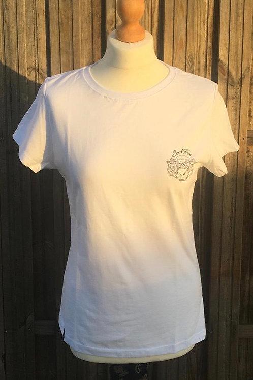 T-shirt Tropical Helmet - White