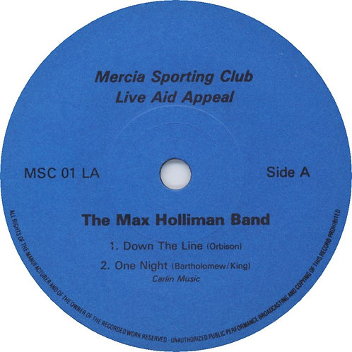 "Max Holliman Band - Live Aid Appeal (7"" 33rpm) 1985 EP"