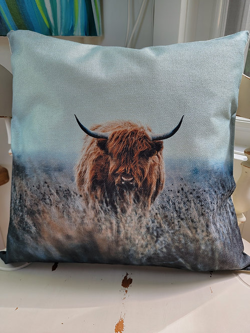 Highland Cow Cushion Cover