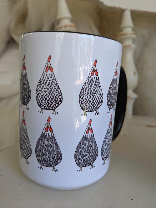 15 oz loads of chickens mug *Add on item