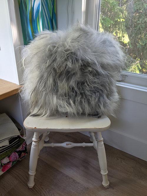 "One yeti of an artisan double sided cushion 25"" x 24"""